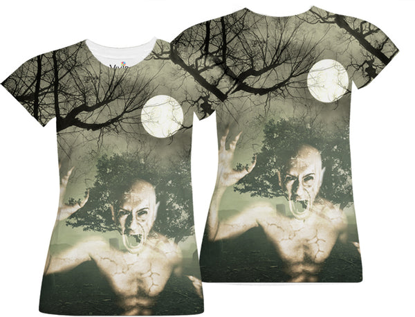 Vampire in Cemetery Sublimation T-Shirt