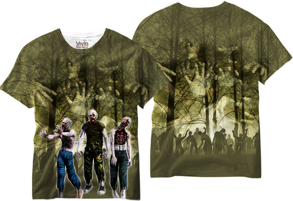 Hungry Zombies Sublimation T-Shirt - Vivid Sportswear