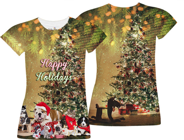 Animal Christmas Party Sublimation T-Shirt - Vivid Sportswear