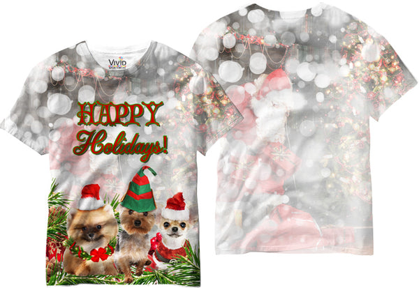 Adults Doggie Holiday Sublimation T-Shirt - Vivid Sportswear