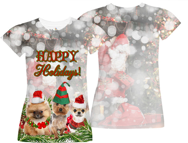 Doggie  Holiday Sublimation T-Shirt - Vivid Sportswear