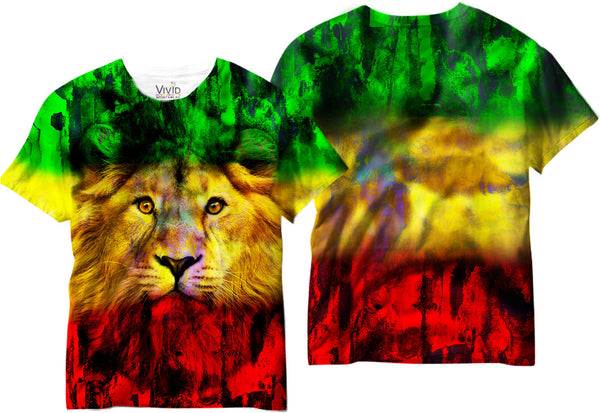 Adults Hemp Lion Sublimation T-Shirt - Vivid Sportswear