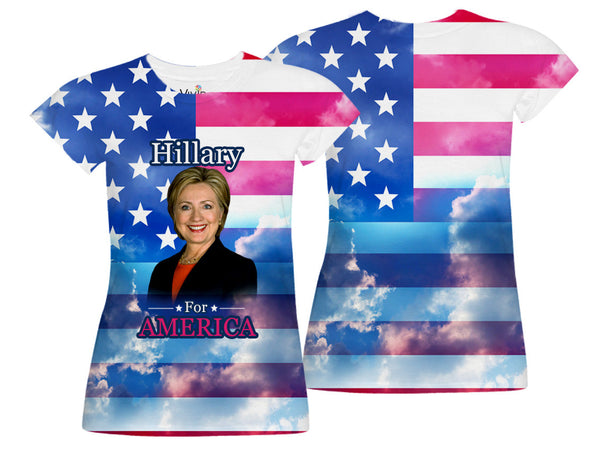 Adults Hillary for America Sublimation T-Shirt - Vivid Sportswear