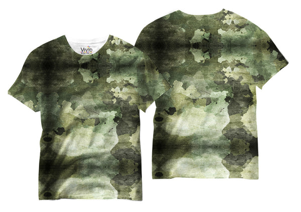 Adults Camo Watercolored Sublimation T-Shirt - Vivid Sportswear