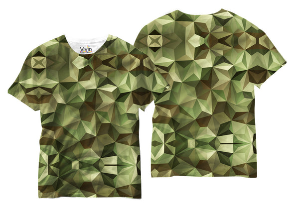 Adults Camo Geometric Sublimation T-Shirt - Vivid Sportswear