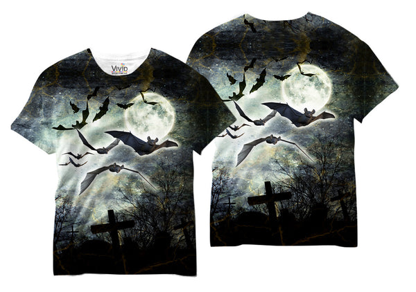 Bats at Night Sublimation T-Shirt - Vivid Sportswear