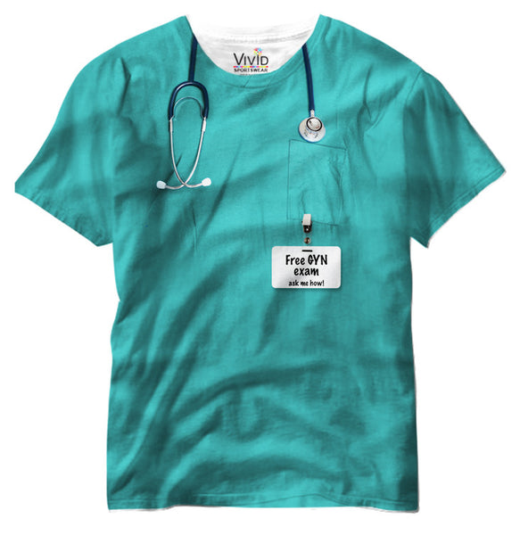 Adults GYN Scrubs Sublimation T-Shirt - Vivid Sportswear