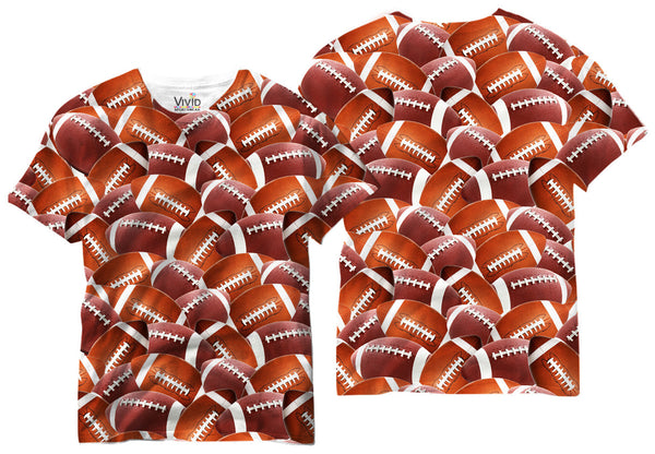 Adults All Over Football T-Shirt - Vivid Sportswear