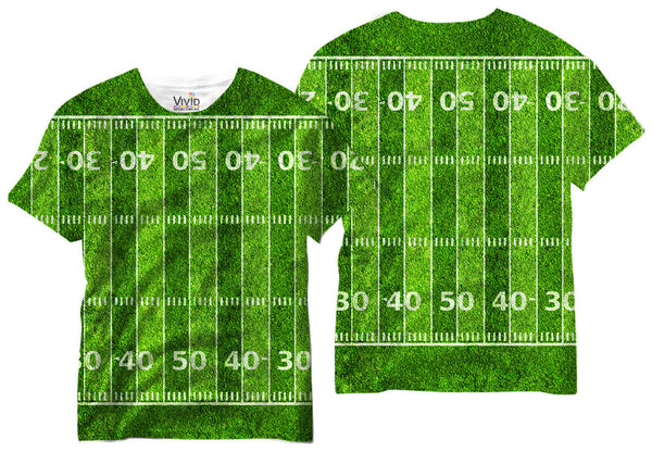 Adults Football Field T-Shirt - Vivid Sportswear