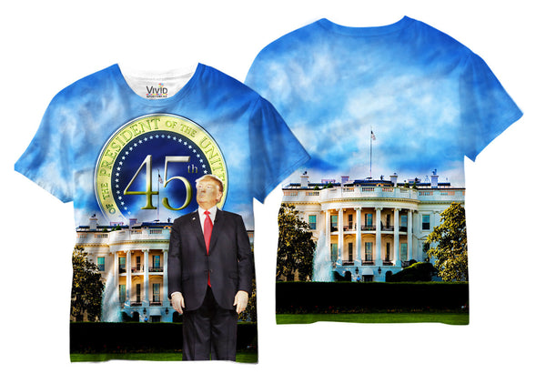 Adults 45th President Trump Sublimation T-Shirt - Vivid Sportswear