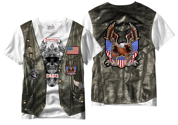 Adults Biker Vest Sublimation T-Shirt - Vivid Sportswear
