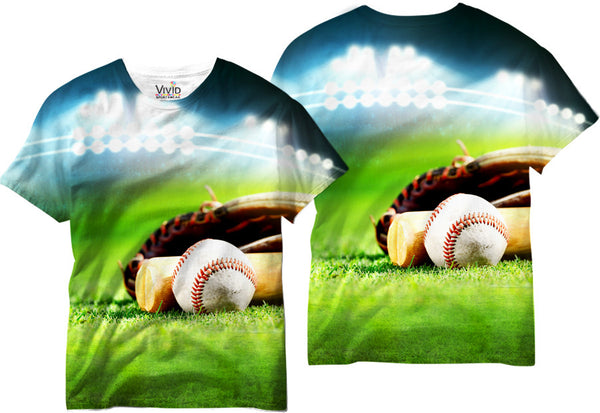 Adults Baseball Field T-Shirt - Vivid Sportswear