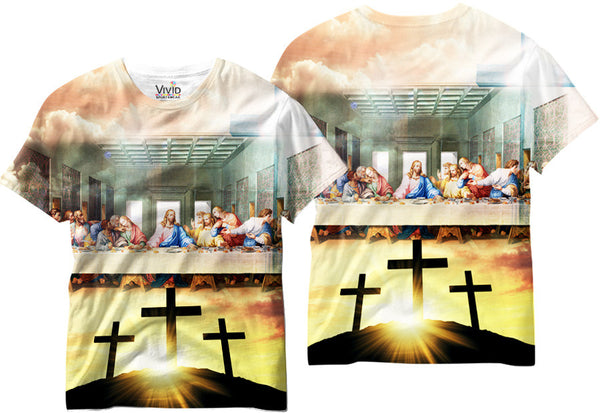 Adults Last Supper Jesus Sublimation T-Shirt - Vivid Sportswear