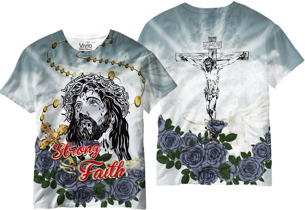Adults Strong Faith Sublimation T-Shirt - Vivid Sportswear