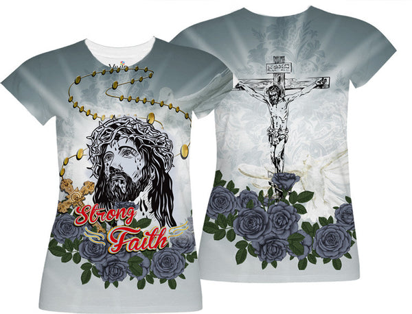 Jesus Strong Faith Sublimation T-Shirt - Vivid Sportswear