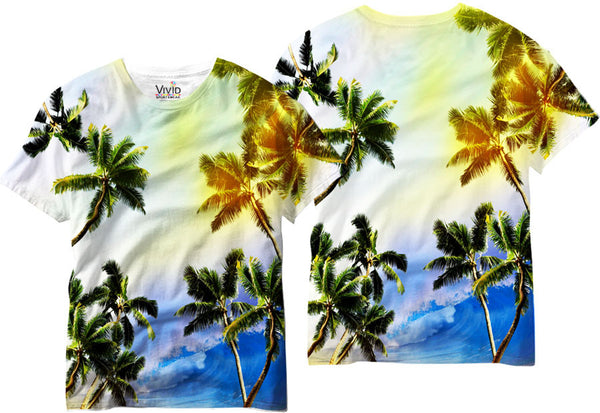 Adults Palm Tree Paradise Sublimation T-Shirt - Vivid Sportswear