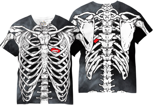 See Right Through Me Skeleton Sublimation T-Shirt - Vivid Sportswear