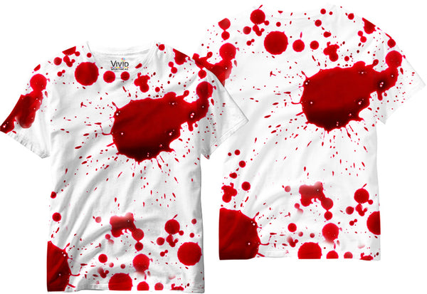 Blood Splatter Sublimation T-Shirt - Vivid Sportswear