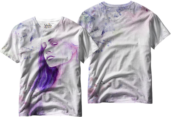 Adults Crying Woman Sublimation T-Shirt - Vivid Sportswear