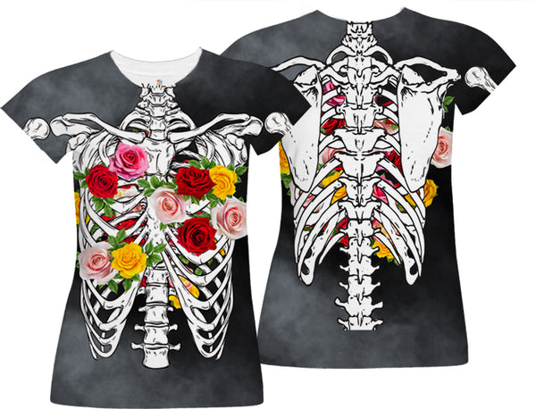 Bleeding Flowers Sublimation T-Shirt - Vivid Sportswear
