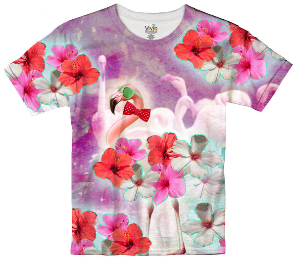 Kids Flamingo Party T-Shirt - Vivid Sportswear