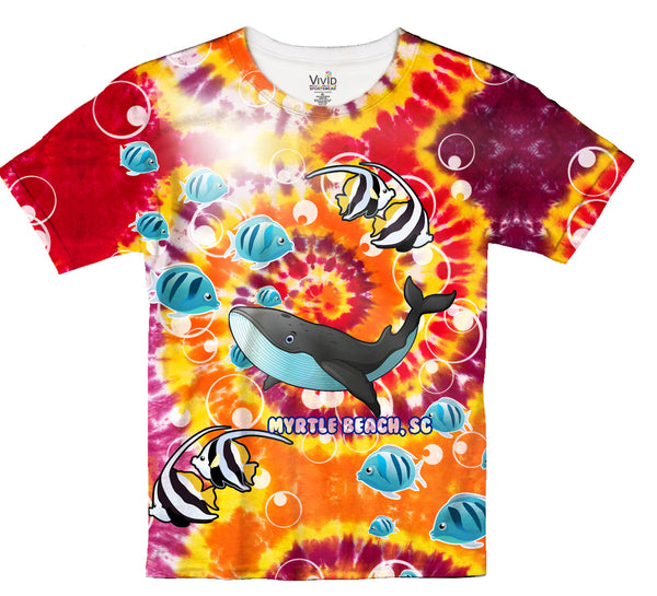 Kids Sublimation Tie-Dye T-Shirt - Vivid Sportswear