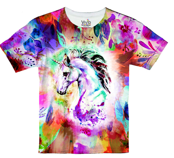Watercolor Unicorn Sublimation T-Shirt - Vivid Sportswear