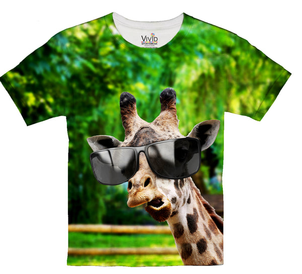 Giraffe With Swag Sublimation T-Shirt - Vivid Sportswear