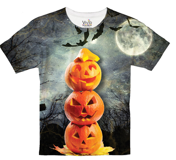 Kids Stacked Pumpkin T-Shirt - Vivid Sportswear