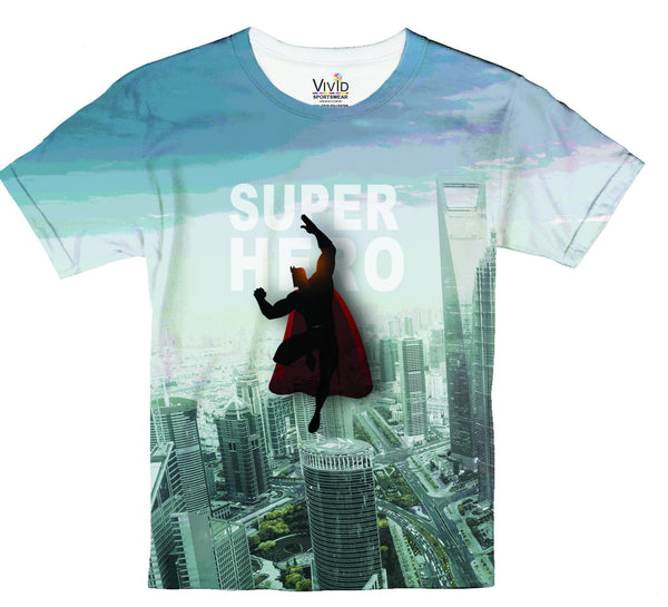 Kids Super Hero T-Shirt - Vivid Sportswear