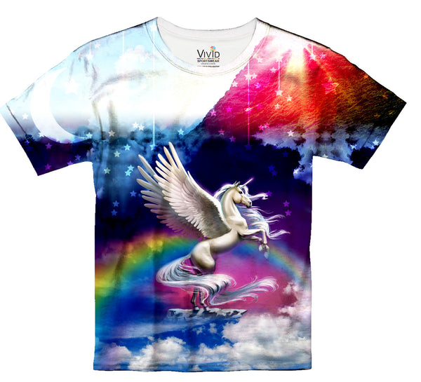 Kids Unicorn Fantasy T-Shirt - Vivid Sportswear