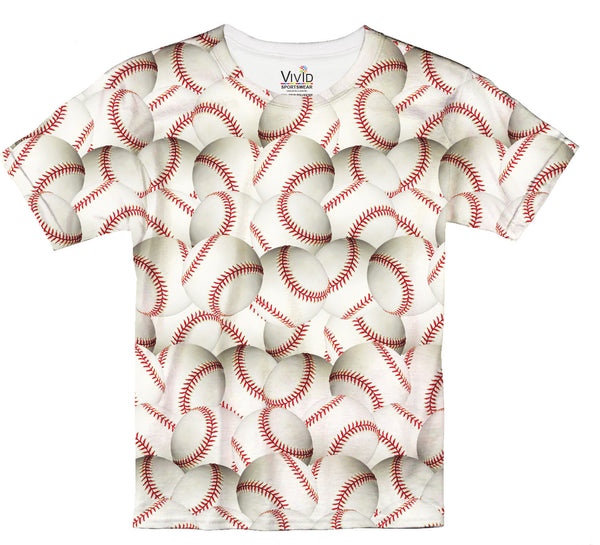 Kids Baseball Lovers Sublimation T-Shirt - Vivid Sportswear