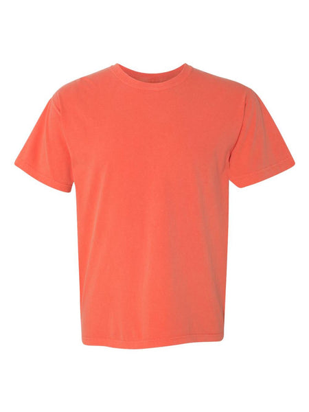 BRIGHT SALMON - Garment Dyed Heavyweight Ring spun Short Sleeve Shirt - Vivid Sportswear