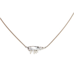 MICRO JAW PENDANT NECKLACE, SILVER