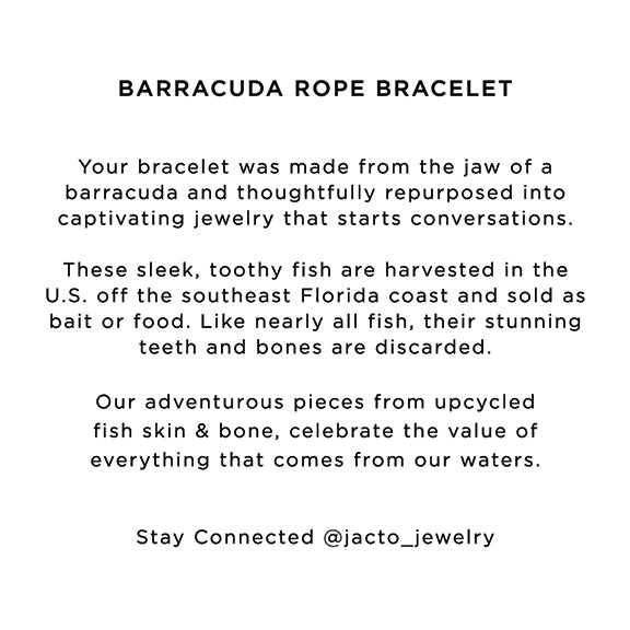 BARRACUDA ROPE BRACELET