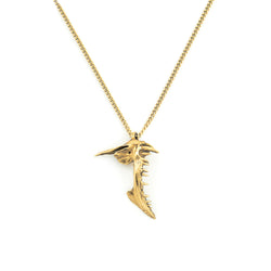 MICRO SNAPPER NECKLACE, GOLD-TONE