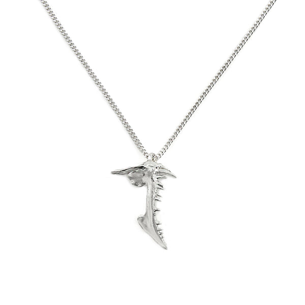 MICRO SNAPPER NECKLACE, SILVER