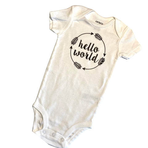 HELLO WORLD Onezie Bodysuit