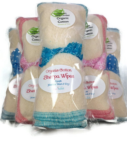 Organic Cotton Sherpa Wipes Five-Pack