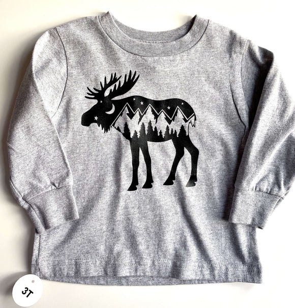 Moose Print West Coast Toddler Tee - Sugar Sandwich Design