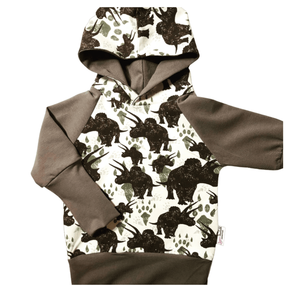 Triceratops Dinosaur Grow Along® Hoodie Organic Cotton
