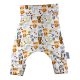 Bear and Friends Harem Set Grow Along® Pants & Top Knot Hat Gender Neutral