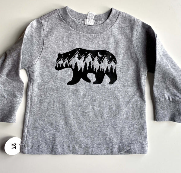 Bear Print West Coast Toddler Tee - Sugar Sandwich Design