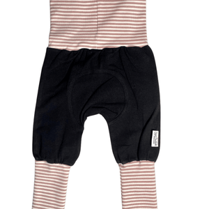 Pink & White Stripes and Black Solids Grow Along® Pants
