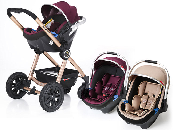 Luxury Baby Stroller 3 In 1 High Landscape Carriages Pram