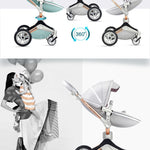 Hot Mom Stroller High Landscape Folding Chair 360 Degree Rotation Luxury Pram With Bassinet
