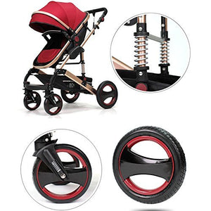 Luxury Newborn Baby Foldable Anti-shock High View Carriage Infant Stroller Pushchair