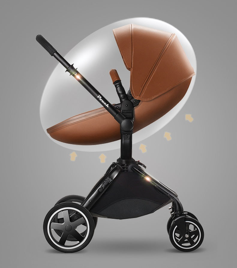 Egg Shape Design Pouch Brand Luxury 3 in 1 Bassinet Stroller With Car Seat Travel System