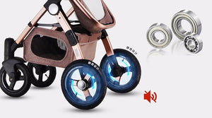 Gold Baby Brand Baby Stroller 3 in 1 with Car Safety Seat,Baby Carriage Prams European Strollers