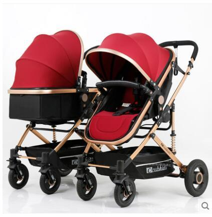 Twin Baby Stroller Easy Folding Light Weight Double